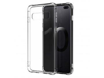 Silikónový kryt (obal) Anti Shock pre Samsung Galaxy S10 Lite - priesvitný