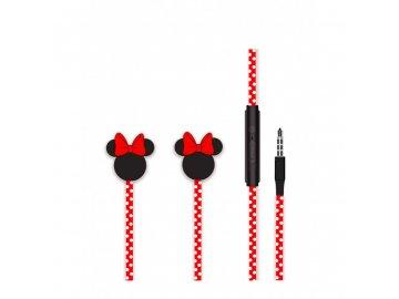 Disney Minnie Matt slúchadlá - s červenou mašľou