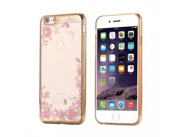Silikónový kryt (obal) Diamond Flower pre Xiaomi Mi 8 - zlatý