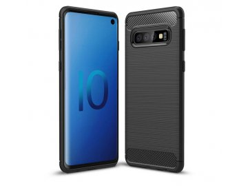 Silikónový kryt (obal) Carbon pre Sony Xperia 10+ (Plus) - čierny