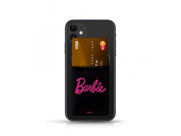 Barbie Pocket Sticker nalepovací držiak na kartu - čierny