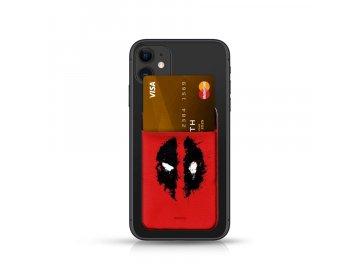 Marvel Deadpool Pocket Sticker nalepovací držiak na kartu - červený