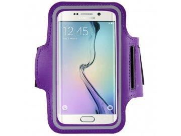 Armband športové puzdro pre telefón na rameno - velkosť L / fialové