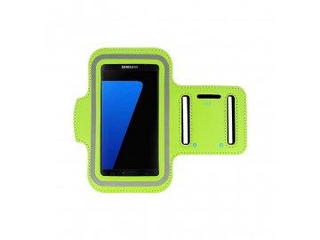 Armband športové puzdro pre telefón na rameno - velkosť L / zelené