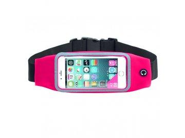 """Rebeltec Waist Active puzdro pre mobilné telefóny do veľkosti 5,5"""" na pás - ružové"""