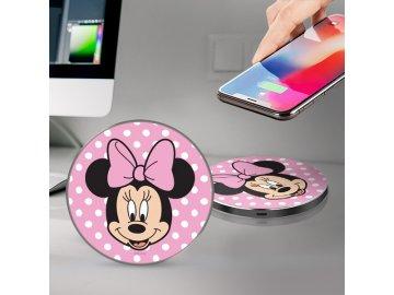 Disney Minnie bezdrôtová nabíjačka - ružová