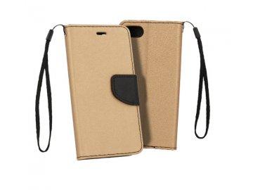 Flip Case (puzdro) Fancy pre Xiaomi Redmi 9C - zlato-čierne