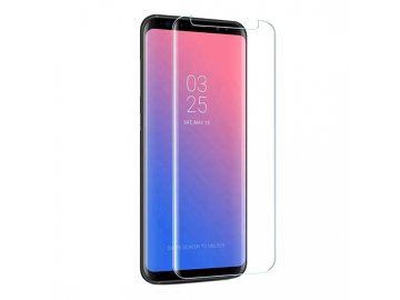 Full Glue 5D tvrdené sklo pre Samsung Galaxy S9 - priesvitné