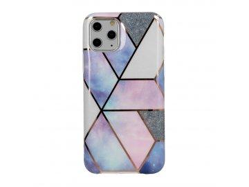 Cosmo Marble silikónový kryt (obal) pre iPhone 11 X/XS - fialový