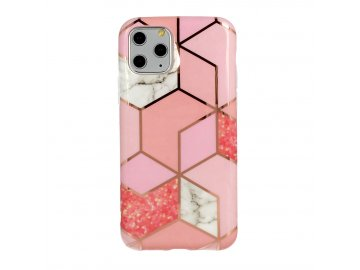 Cosmo Marble silikónový kryt (obal) pre iPhone 11 XR- ružový