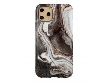 Vennus Marble Stone silikónový kryt (obal) pre Huawei P30 Lite - šedý