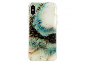 Vennus Marble silikónový kryt (obal) pre Samsung Galaxy A70 - zlato-biely