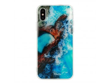Vennus Marble silikónový kryt (obal) pre iPhone X/XS - oceán