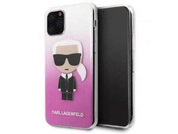 Karl Lagerfeld Iconic Gradient kryt (obal) pre Samsung Galaxy A41 - priesvitný-ružový