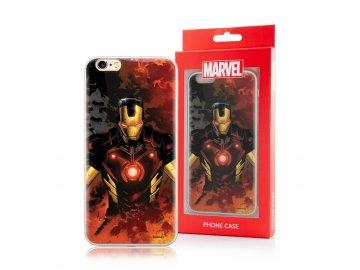 MARVEL Iron-Man silikónový kryt (obal) pre Samsung Galaxy S10+ (Plus) - čierny