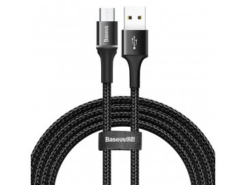 Baseus Halo micro USB kábel 2m - čierny