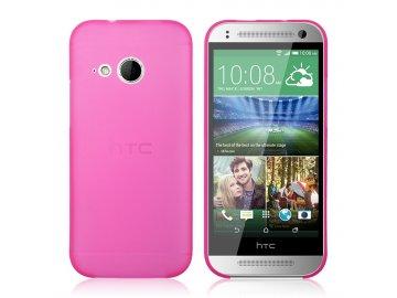 Plastový kryt (obal) pre HTC One mini 2 (M8) - tm. ružový (hot pink)