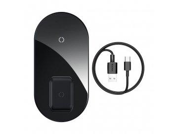 Baseus Simple 2v1 Pro Edition bezdrôtová nabíjačka - čierna