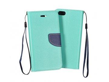 Telone Fancy flip case (puzdro) pre Samsung Galaxy A21s - mentolovo-modré