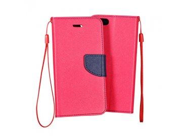 Flip Case (puzdro) Fancy pre Huawei P40 Lite E - ružovo-modré