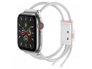"""Baseus Let""""s Go remienok pre Apple Watch - bielo-ružový"""