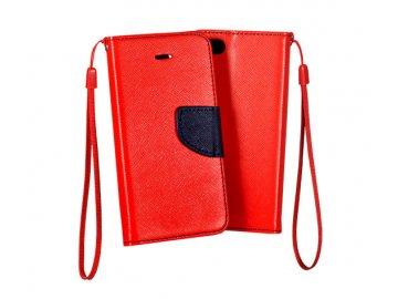 Flip Case (puzdro) Fancy pre Huawei P40 Lite E - červeno-modré