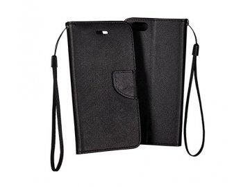 Flip Case (puzdro) Fancy pre Huawei Y5p - čierne
