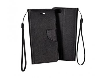 Flip Case (puzdro) Fancy pre Samsung Galaxy A40 - čierne