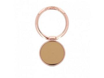 LGD Mirror kovový držiak na mobil - prsteň - ružový