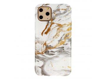Vennus Marble Stone silikónový kryt (obal) pre Huawei P40 Lite - šedo-zlatý