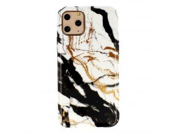 Vennus Marble Stone silikónový kryt (obal) pre Samsung Galaxy A10 - biely