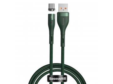 Baseus Zinc Magnetic USB-C kábel 3A - zelený