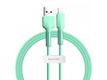 Baseus Silica Gel Lightning kábel 1m - zelený