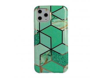 Cosmo Marble silikónový kryt (obal) pre iPhone 11 - zelený