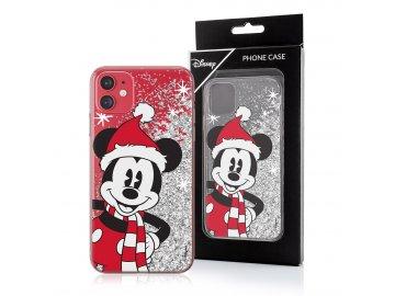 Disney zadný kryt (obal) pre Samsung Galaxy A51 s presýpacími trblietkami - vianočný Mickey