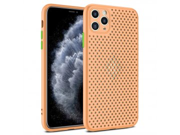Breath Case silikónový kryt (obal) pre iPhone 12/12 Pro - oranžový