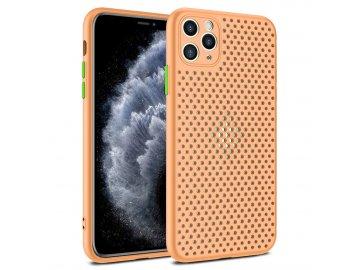 Breath Case silikónový kryt (obal) pre iPhone 12 Pro Max - oranžový
