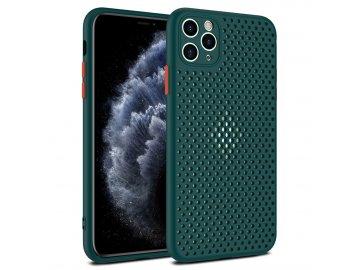 Breath Case silikónový kryt (obal) pre iPhone 12/12 Pro - zelený