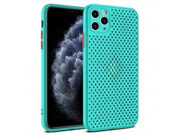 Breath Case silikónový kryt (obal) pre iPhone 12/ 12 Pro - tyrkysový