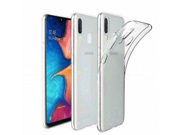 Silikónový kryt (obal) 0,3mm pre Samsung Galaxy A10 - priesvitný