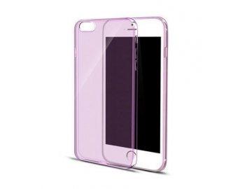 Silikónový kryt (obal) pre Samsung Galaxy S6 - priesvitný ružový