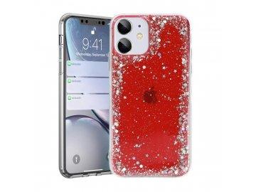 Brilliant Clear silikónový kryt (obal) pre Samsung Galaxy A72/A72 5G - červený