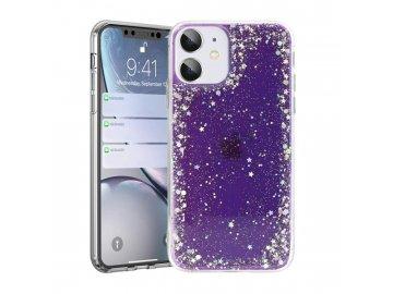 Brilliant Clear silikónový kryt na iPhone 7/8/SE 2020 fialový
