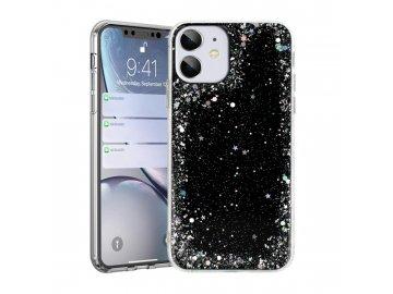 Brilliant Clear silikónový kryt na iPhone 7/8/SE 2020 čierny