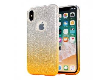 Silikónový kryt (obal) pre Samsung Galaxy A12 - trblietavý zlatý