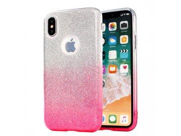 Silikónový kryt (obal) pre Samsung Galaxy A12 - trblietavý ružový