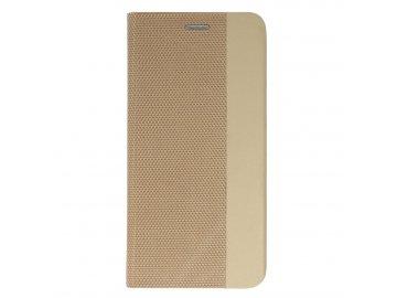 Vennus Sensitive Book (puzdro) pre Samsung Galaxy S20 - zlaté - s magnetickým dovieraním