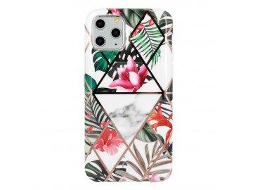 Cosmo Marble silikónový kryt (obal) pre iPhone 11 Pro - ružový kvet
