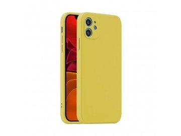 Fosca Case silikónový kryt (obal) pre Samsung Galaxy A12 - žltý