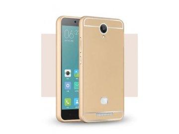 Hliníkový kryt (obal) pre Xiaomi Redmi Note 2 - gold (zlatý)